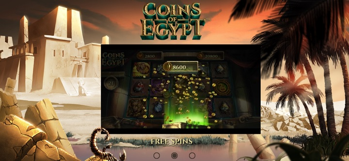 Coins of Egypt ny NetEnt spilleautomat