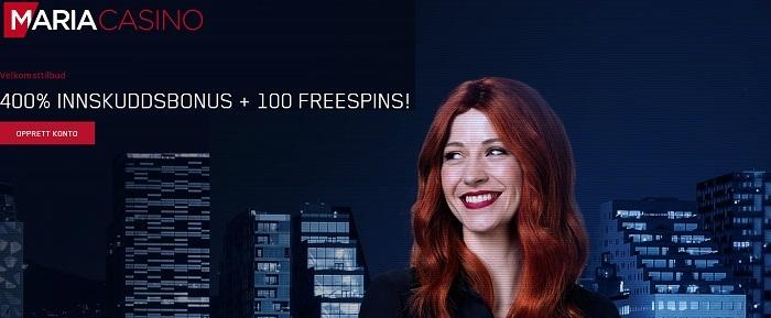 Maria casino 100 free spins